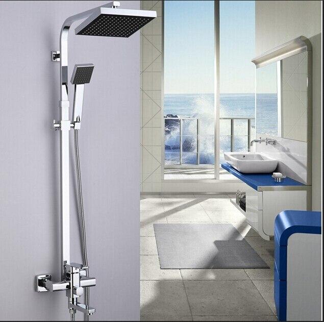 cromo lucido 8 abs soffione sistema di montaggio a parete una maniglia girevole beccuccio bagno