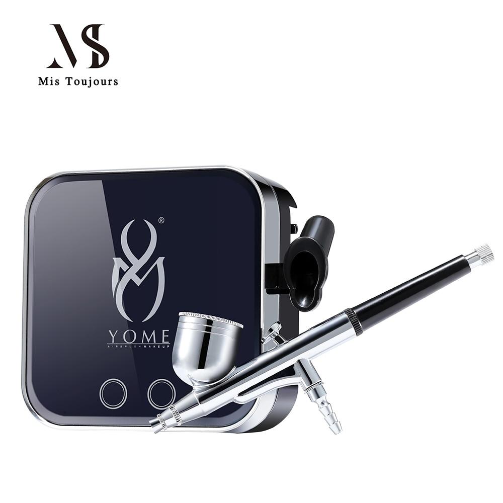 Airbrush With Compressor Pro Aerografo For Nails,Face Paint,Body Paint With Henna Tattoo Stencils(Freebie) mini compresor de pintura