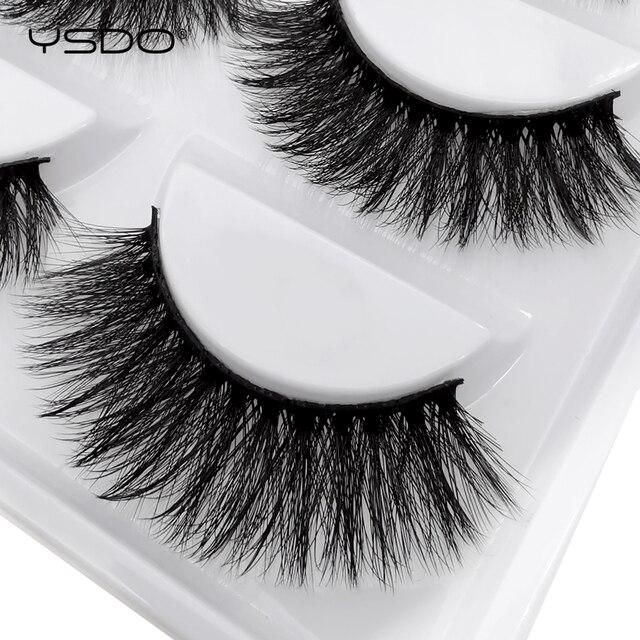 5 Pairs Mink EyeLashes 3D False Lashes winged Thick MakeupEyeLash Dramatic Lashes Natural Volume Soft Fake Eye Lashes g800 4