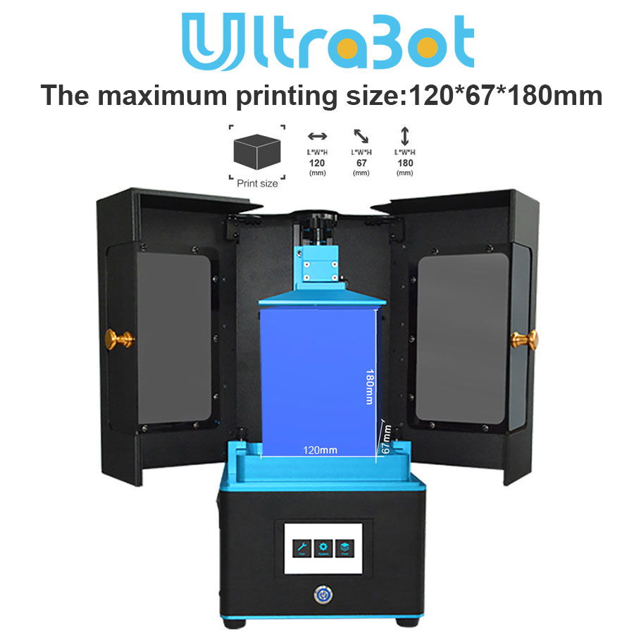 Tronxy New LCD 3d printer UV resin Light-Cure DLP/LCD with 3 5 inch touch  screen and Photosensitive resin(405nm)