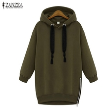 Zanzea hooded sweatshirt womens hoodies loose arrival warm autumn sleeve casual