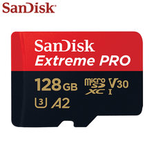 SanDisk tarjeta Micro SD de 128GB UHS-I SDXC tarjeta de memoria A2 U3 Flash tarjeta de 32GB TF tarjeta para teléfono Tablet PC