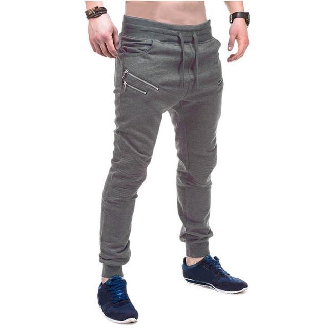 3 Cores 2017 Homens Único Bolsos Pantalones Hombre Homens Casual Moletom Basculador Harem Pants Calças Dos Homens Plus Size