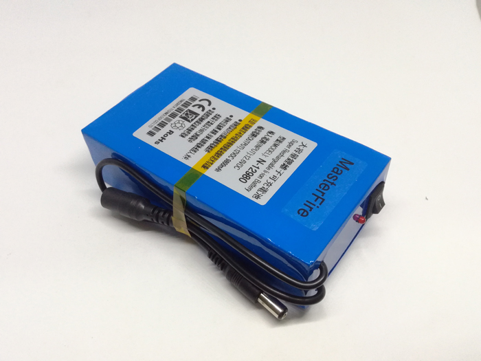 MasterFire New Portable Li-Ion battery 12V rechargeable 9800mah battery 12V lithium batteries pack Free Shipping lc 16340 3 7v 1000mah li ion batteries yellow 2 battery pack