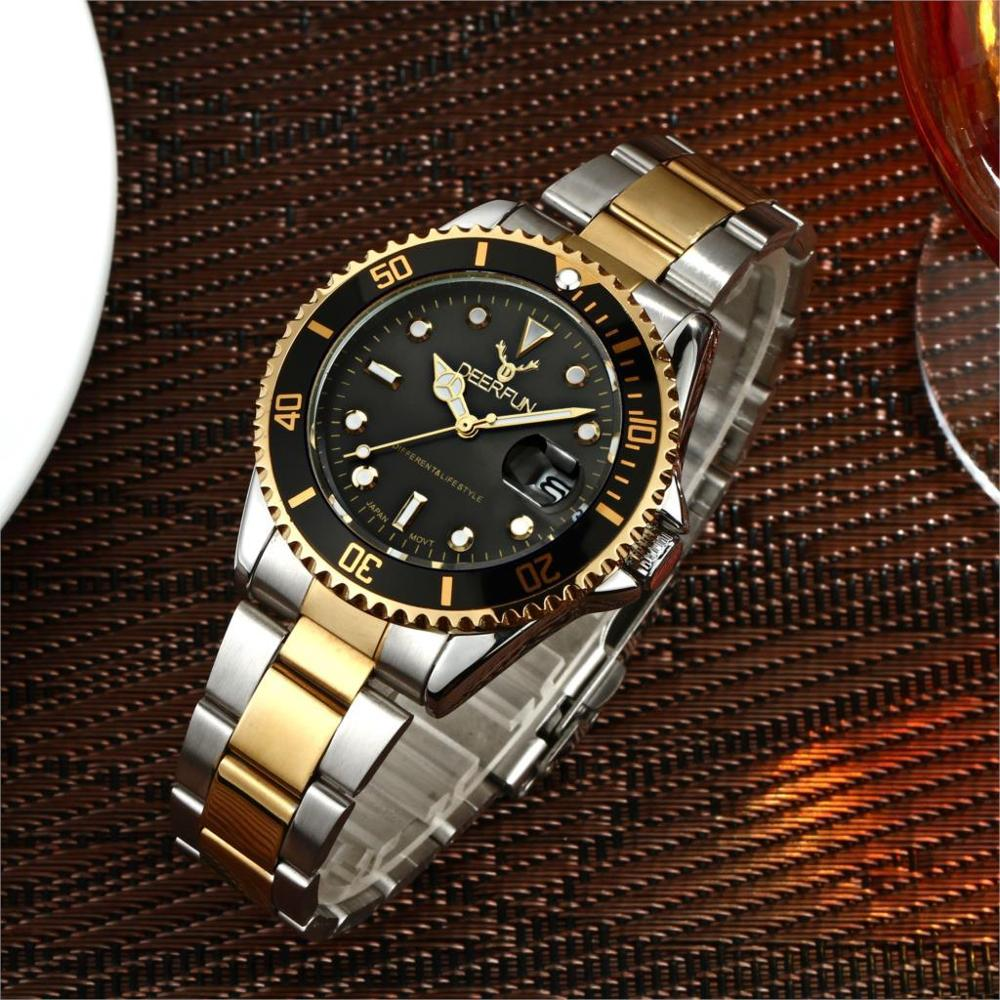 2019 Dropshipping New Luxury Brand 30 Colors Quartz Men Watch Calendar Waterproof Steel Strap Rolexable Watches Can Swimming