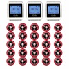 20pcs Call Transmitter Button 3 Watch Receiver 433MHz 999CH Restaurant Pager Wireless Calling System Catering Equipment