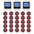 20 unids Llamada Botón Del Transmisor + 3 Receptor de 433 MHz 999CH Restaurante Pager Sistema de Llamada Sin Hilos Equipo de Restauración F3285C