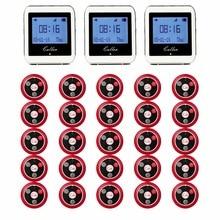 20 штук передатчик вызова и пуговицы + 3 Часы приемника 433 мГц 999CH ресторан пейджер Беспроводной вызова системы питания оборудования F3285