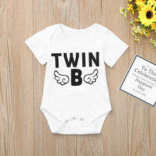 d7cf9ae7c (Ship from US) Newborn Infant Baby Boys Girls Short Sleeve jumpsuit Twins  Romper Clothes toddler clothes baby clothing Onesies summer 2019