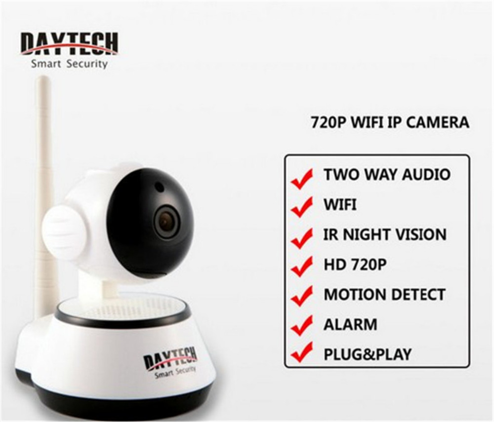 Daytech Wireless WiFi IP Camera 720P Home Security Surveillance Camera Baby Monitor IR-Cut Night Vision CCTV Indoor Camera P2P купить