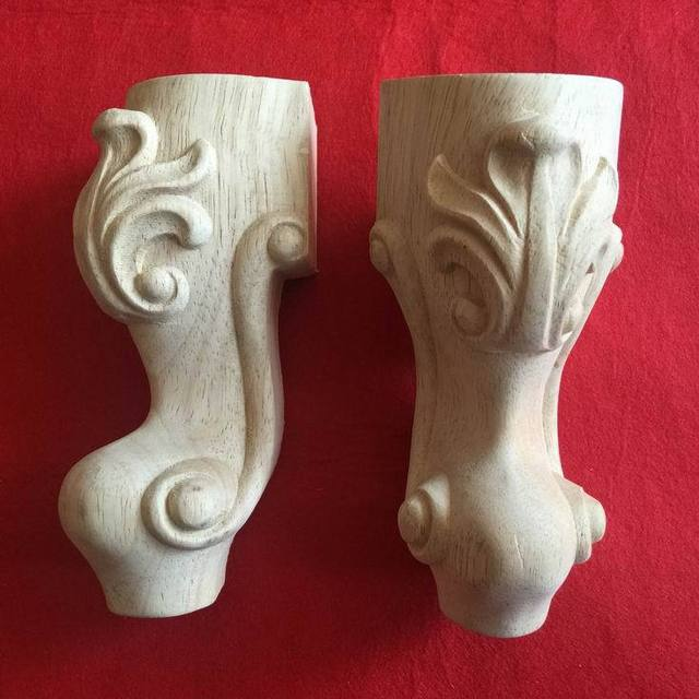 Dongyang Wood Carving Legs Fashion Solid Wood Furniture Legs