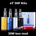 Ect et 30 p kit de cigarrillo electrónico 30 w caja mod e-cigarrillos vaporizador vape mod narguile electrónica de arranque kit e humo x9034