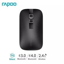Rapoo M550 многомодовая Бесшумная беспроводная мышь с 3,0 dpi Bluetooth 4,0/2,4 RF 1300 GHz для 3 устройств подключение офисных домашних мышей