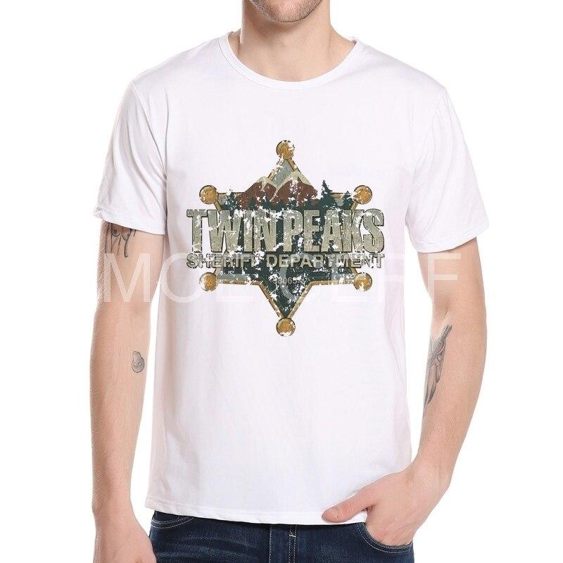 Twin Peaks Hexagonal Star T Shirts New 3DFashion Stylish For Mens Custom Short Sleeve Asian size Tees Shirt K10-12#