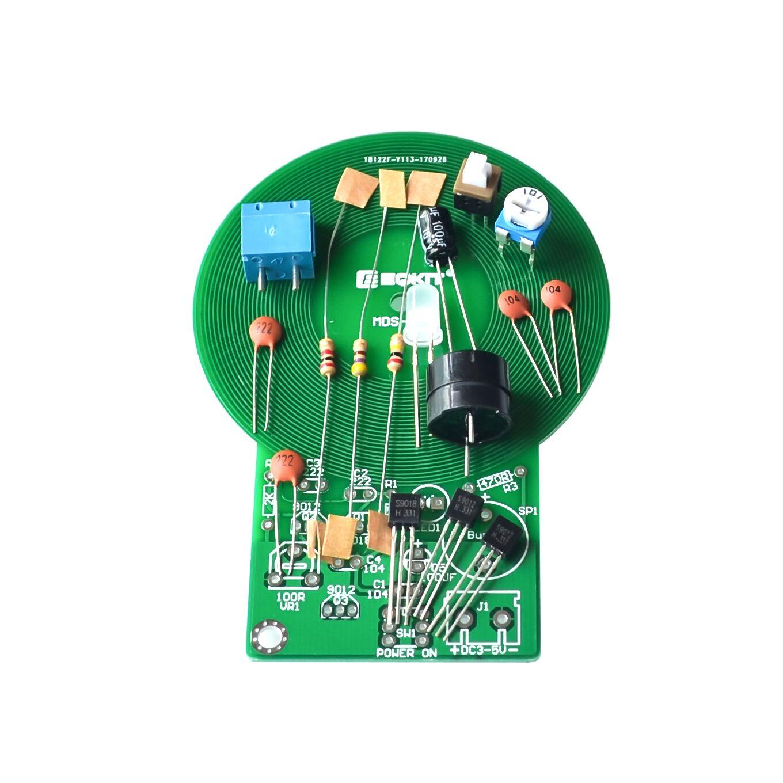 DC 3V-5V  Metal Detector Kit Electronic Kit 60mm Non-contact Sensor DIY Kit CA
