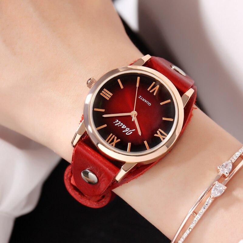 Marca JBAILI Casual mujer reloj de moda rojo vestido de escenario relojes de cuarzo Masculino reloj femenino reloj de pulsera Masculino