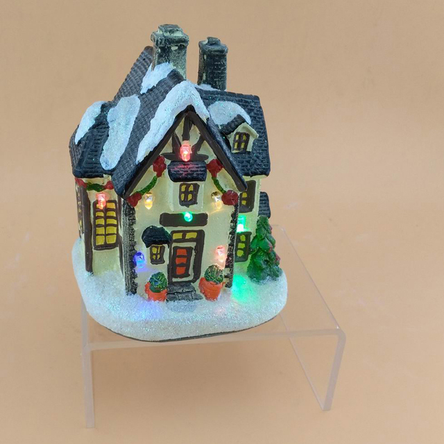 happy holiday time christmas 5inch christmas village houses with led light led fairy lights houses - Holiday Time Christmas Decorations