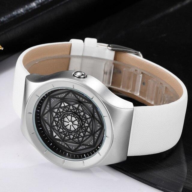 Geek Watches Men Minimalist Turntable Dial Quartz Watch Clock  Leather Mesh Band Male Wristwatch Relogio Masculino Gift For Men 4