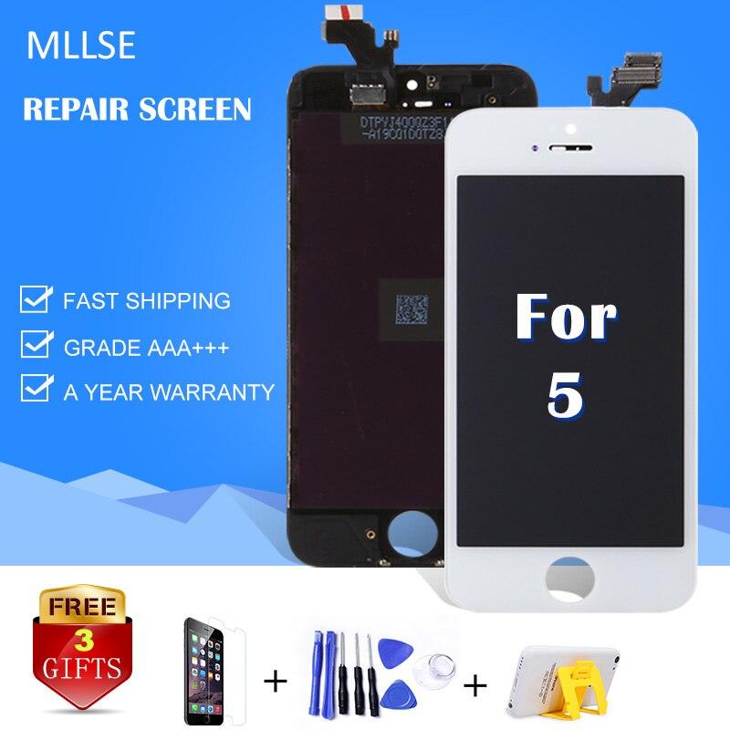 2017 Marque Nouveau Ecran Pour iPhone 5 5C 5S Écran lcd avec Écran Tactile Digitizer Assemblée Remplacement Pantalla Verre A1428 a1429