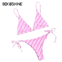 Solid Bikini 2017 Sexy Low Waist Swimwear Trangle Swimsuit Push Up Bikini Set Bahting Suit Beach