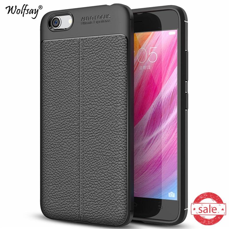 Phone Case For BBK Vivo Y53 Cover Litchi Pattern Case Soft TPU Wolfsay Case For Vivo Y53 Cover For Vivo Y53 Y53i Y53A Fundas
