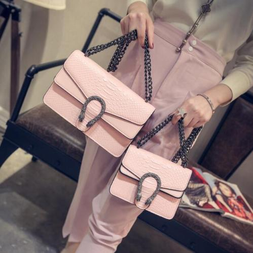 Women Snake Hasp Handbags Luxury Design Messenger Bags Shoulder Satchel Chain 6Colors