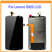 For Lenovo S920 LCD Display with Touch Screen Digitizer Assembly Complete Black + tools Free Shipping