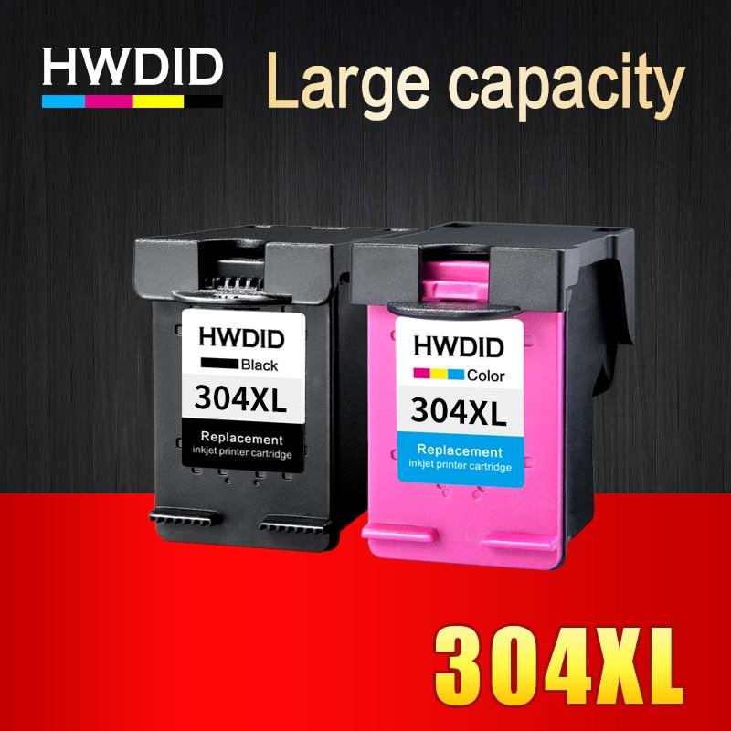 HWDID 304XL Rigenerata Cartuccia di Inchiostro di Ricambio per HP 304 XL N9K08AE N9K07AE Compatibile per HP Deskjet 3700 3720 3730 3732