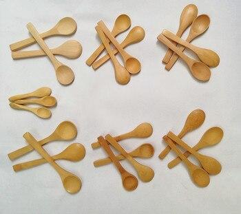 (50pcs) 9cm 13cm 15cm Wooden Spoons Honey Spoon Baby Spoons Bamboo Spoons фото