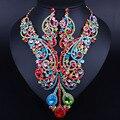 FARLENA Ювелирные Изделия KC Позолоченный Роскошные Кристалл Большой Ожерелье и Серьги для Женщин Африканского B