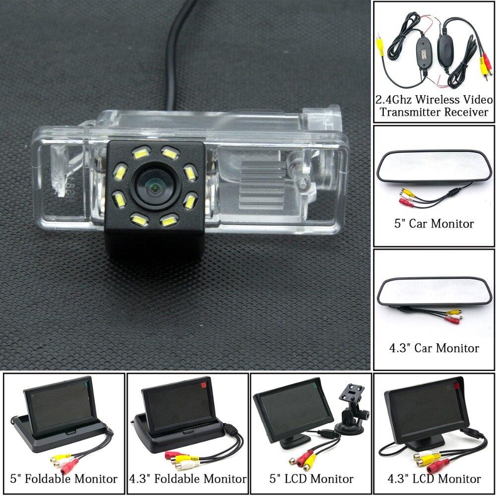 Камера заднего вида для автомобиля, 8 светодиодов, 4,3 дюйма, 5 дюймов, ЖК-монитор для парковки, беспроводная, для Mercedes Benz Vito Viano Sprinter B Class W639