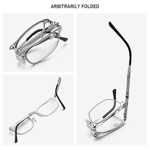 Image 3 - FONEX High Quality Folding Reading Glasses Men Women Foldable Presbyopia Reader Hyperopia Diopter Eyeglasses Screwless LH012