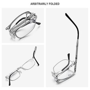 Image 3 - FONEX באיכות גבוהה מתקפל קריאת משקפיים גברים נשים מתקפל פרסביופיה קורא רוחק Diopter משקפיים ללא בורג LH012