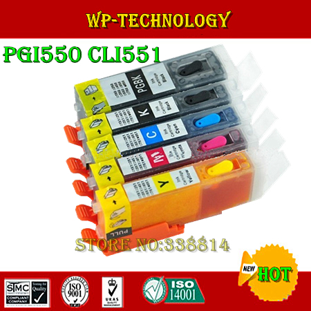PGI550 CLI551 Refill cartridge suit for Canon IP7250 canon MG5450 ,full ink,5 color,ARC chip , Free shipping 5 color ciss system for canon pgi 550xl cli 551xl pgi550 cli551 550 for canon mg5450 ip7250 7250 printer with arc chip