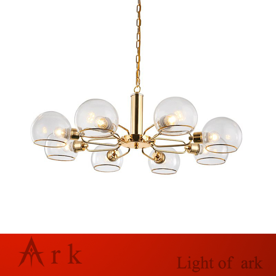 Nordic inimalistic Postmodern Globe Glass led gold pendant Lights forLiving Room bedroom home decoration