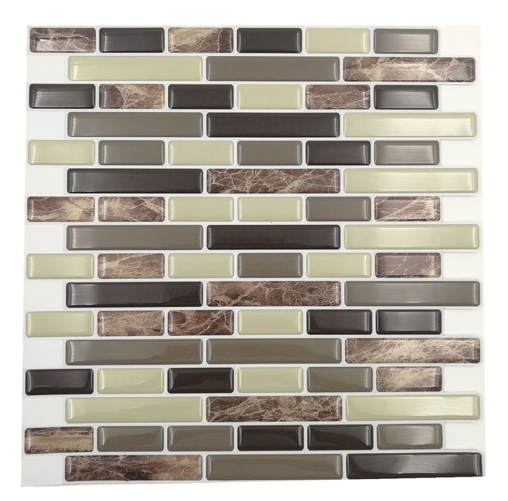 Free Shipping Cocotik Hot Sale 4 Pieces Peel And Stick Wall Tiles 10 5 X10 3d Wall Sticker Wall Paper Kitchen Backsplash Tile