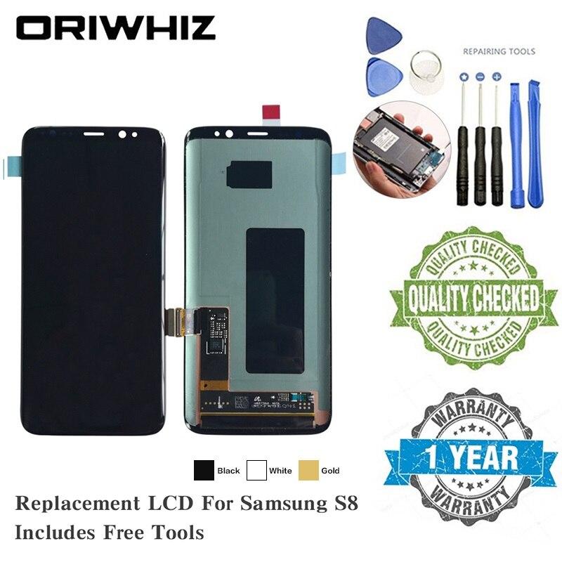 Oriwhiz OLED LCD pour Samsung S8 S7 G930A G93F G930V G930T G930 LCD écran de remplacement écran tactile numériseur complet