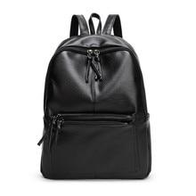 YGDB Brand PU Leather Ladies Black Lichee Pattern Backpack For Women Teenagers Laptop Backpacks School Female Shoulder Bags F1