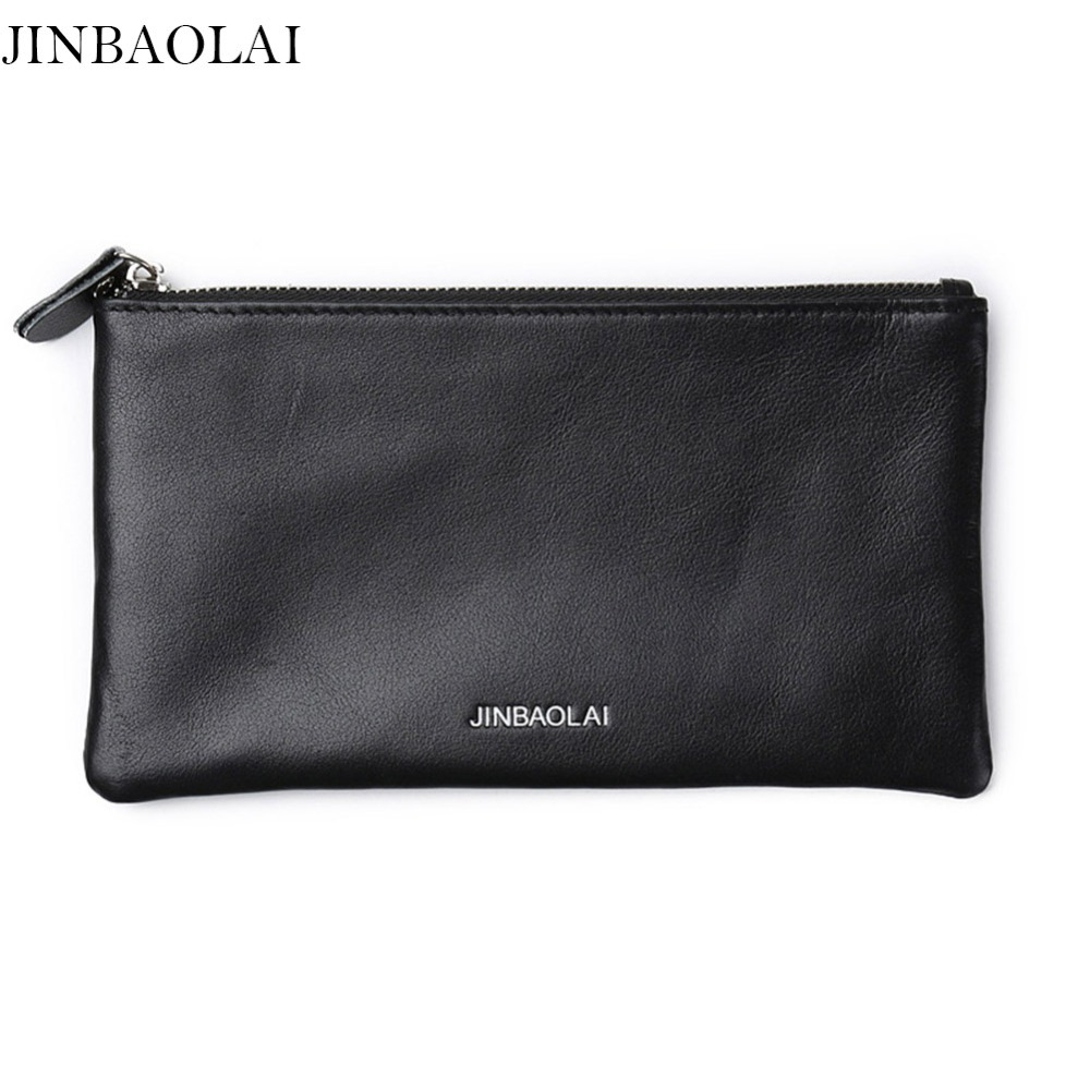 JINBAOLAI Minimalist Men Wallets Rfid Designer Long Purse Card Holder Travel Card Wallet Carteira homem -- BID179 PM49