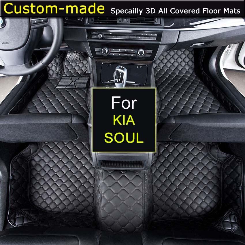 For KIA Soul Car Floor Mats Custom Carpets Car Styling Customized Specially Made for Sorento Carens Opirus Sportage штатная видеокамера парковки redpower kia090 для kia sportage 2010 sorento 2 2009 carens opirus