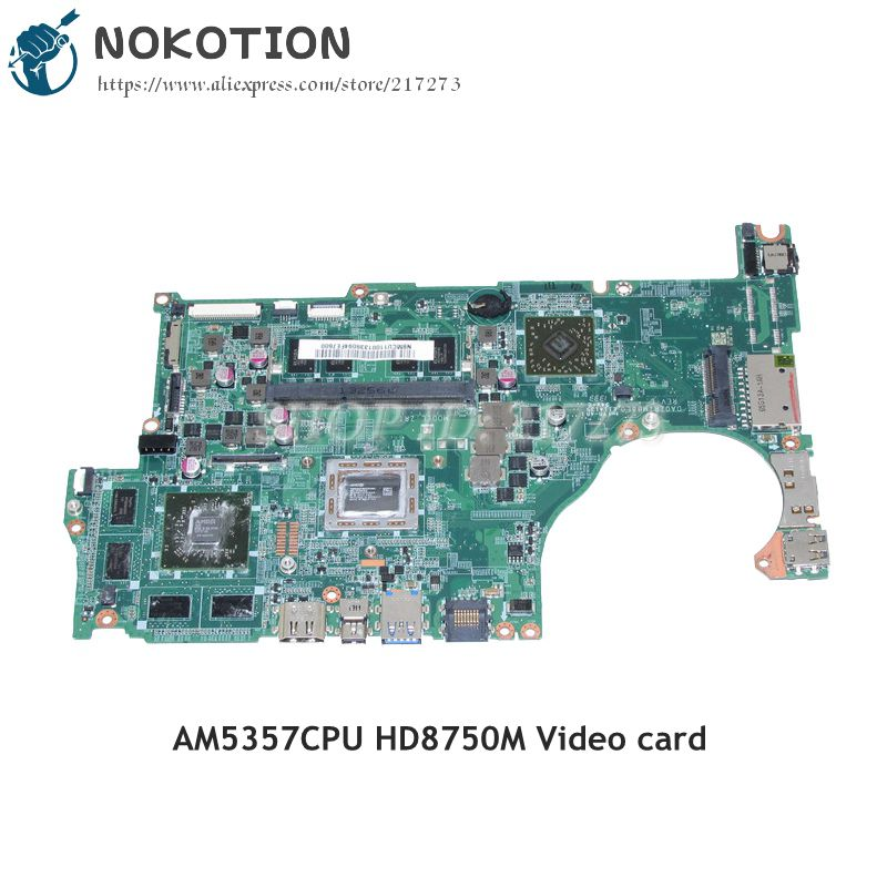 NOKOTION For Acer aspire V5-552G Laptop Motherboard DA0ZRIMB8E0 REV E NBMCU11001 DDR3 AM5357+HD8750M Video card ...