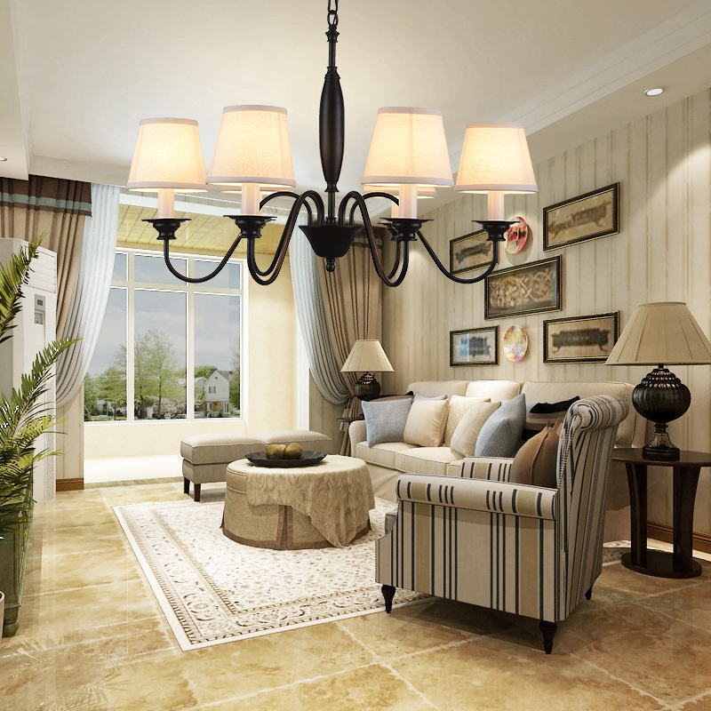 Modern oval chandelier living room study led lustre light Brushed fabricModern oval chandelier living room study led lustre light Brushed fabric