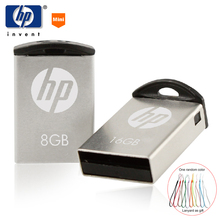HP USB Flash Drive 8GB USB 2.zero Pendrive 16gb 32g U disk v222 Metallic flash Reminiscence stick 8gb diy craft brand For Automotive audio pendrive