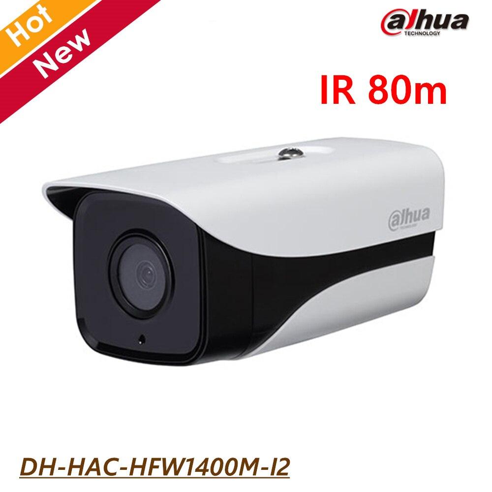 Dahua HDCVI 4MP WDR AHD CVI Outdoor HAC Camera DH-HAC-HFW1400M-I2 IR 80m waterproof IP67 CCTV security Camera dahua 4mp wdr hdcvi bullet camera hac hfw2401e lens3 6mm max ir40m waterproof ip67 cctv security camera