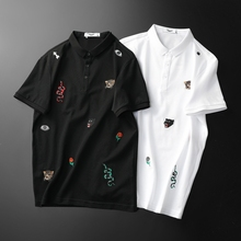 Fashion Great Designer Polos Shirt 2019 New Brand Snake Embroidery Man Polo Short Sleeve Mens Basic F9957