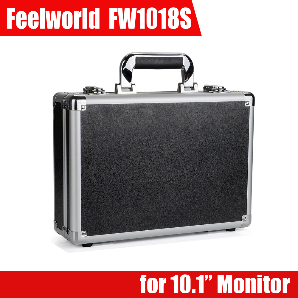 10.1 Portable Aluminum Suitcase Carry Bag Case  for Feelworld FW1018S Field Monitor P0025633 Free Shipping travel aluminum blue dji mavic pro storage bag case box suitcase for drone battery remote controller accessories