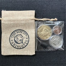HP Wizard Bank Coins with Plastic Box Harry Cloth Bag Gifts Fans Party Kids