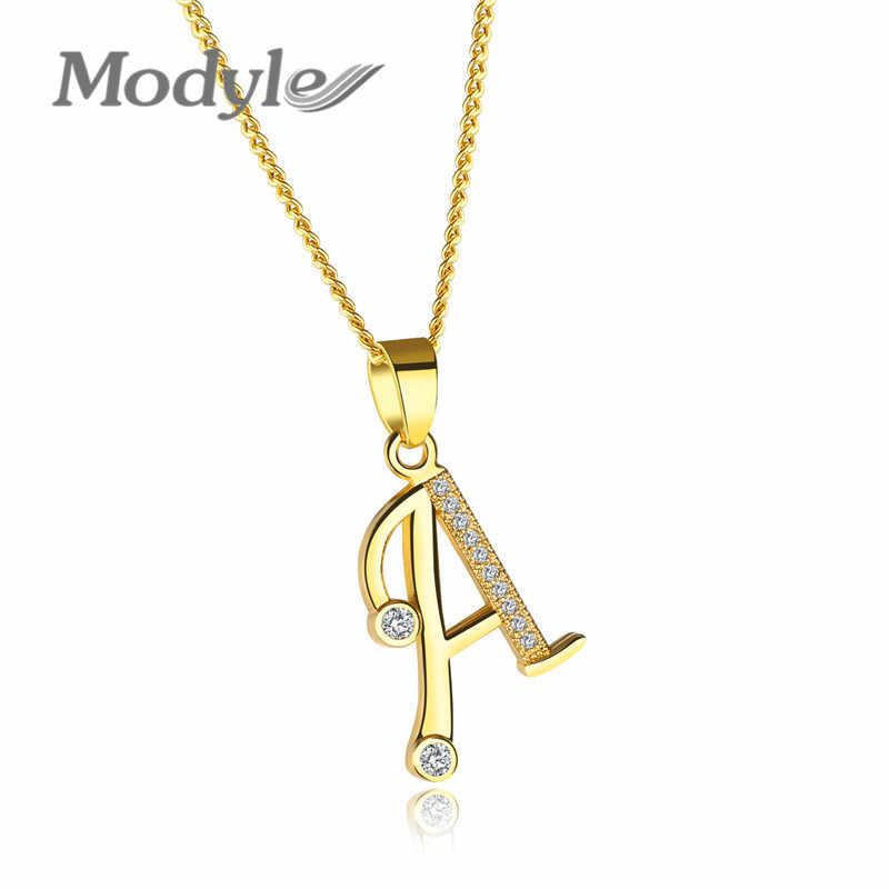Modyle 2019 新ファッション手紙 A-Z ネックレスペンダントゴールドカラーチョーカーネックレス女性ジュエリー