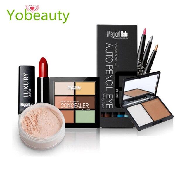 Fashion 5 pcs makeup set combination make up sets cosmetic gift de maquillaje profesional completo face makeup lip makeup