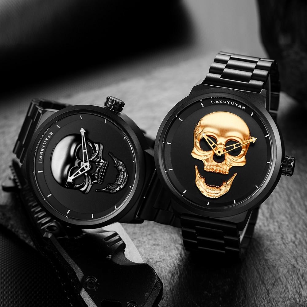 Reloj para hombre JIANGYUYAN Luxury Brand reloj creativo de acero - Relojes para hombres - foto 5